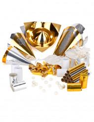 kit 10 Pessoas Passagem de Ano dourado luxo
