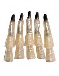 10 Dedos de bruxa fosforescentes Halloween