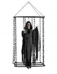 Decoração para pendurar senhor da morte preso Halloween