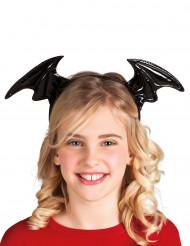 Bandolete asas de morcego pretas criança Halloween