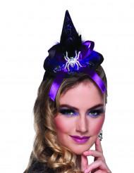 Mini chapéu bruxa aranha mulher Halloween