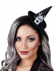 Mini chapéu bruxa copm lantejoulas mulher Halloween