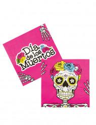 12 Guardanapos de papel Dia de los muertos