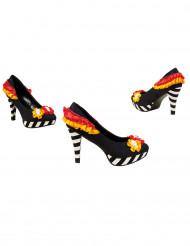 Sapatos coloridos mulher Dia de los muertos