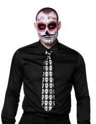 Gravata esqueleto adulto Dia de los muertos