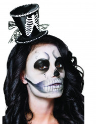 Mini chapéu esqueleto mulher Halloween