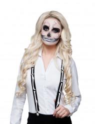 Suspensórios esqueleto adulto Halloween