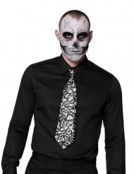 Gravata caveira adulto Halloween