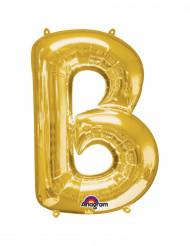 Balão alumínio letra B dourada