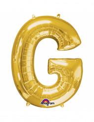 Balão alumínio Letra G dourada 33 cm
