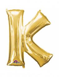Balão de alumínio Letra K dourada