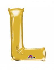Balão de alumínio Letra L dourada