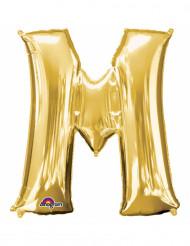 Balão de alumínio Letra M dourada