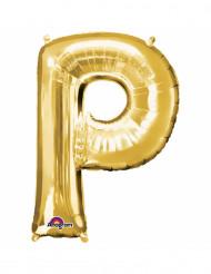 Balão de alumínio Letra P dourada