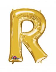 Balão de alumínio Letra R dourada