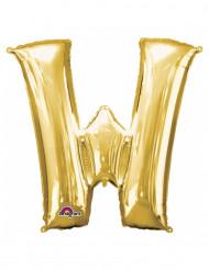 Balão de alumínio Letra W dourada