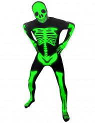 Disfarce esqueleto fosforescente adulto Morphsuits™