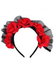 Coroa rosas vermelhas adulto Dia de los muertos