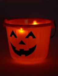 Balde abóbora LED Halloween