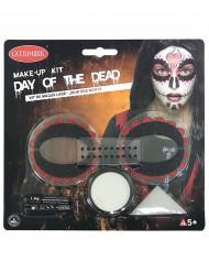 Kit maquilhagem colorido mulher - Dia de los muertos