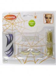 Kit maquilhagem bruxa da noite mulher Halloween