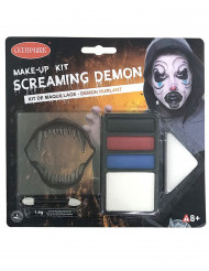 Kit de maquilhagem demónio Halloween