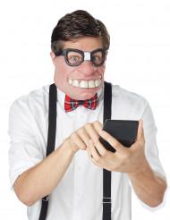 Meia máscara geek adulto