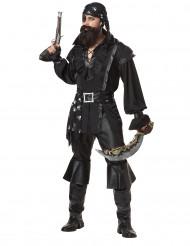 Disfarce pirata camisa preta homem