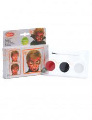 Kit de maquilhagem demónio criança Halloween