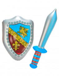 Espada e escudo insufláveis