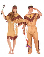 Disfarce de casal índios adultos