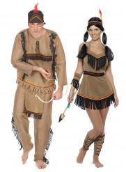 Disfarce de casal índios para adulto