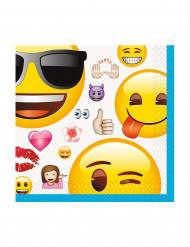 16 Guardanapos Emoji™ 25 x 25 cm