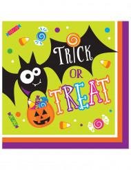 16 Guardanapos de papel Trick or Treat Halloween