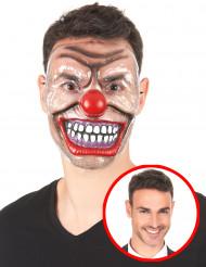 Máscara transparente palhaço de terror adulto Halloween