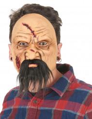 Máscara látex idoso ferido adulto Halloween
