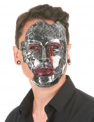 Máscara homem metálico adulto