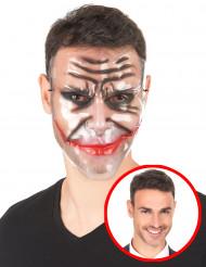 Máscara transparente maxilar rasgada adulto Halloween