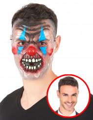 Máscara transparente palhaço de terror adulto para Halloween