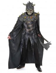 Disfarce cavaleiro do exército macabro adulto Halloween