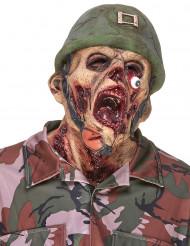 Máscara de látex soldado zumbi adulto Halloween