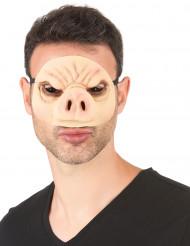 Mascarilha de látex porco adulto