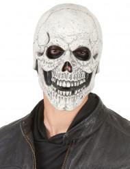 Máscara de látex esqueleto adulto Halloween