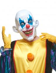 Máscara de látex palhaço diabólico adulto Halloween