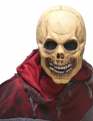Máscara de látex caveira terrível adulto