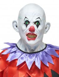 Máscara de látex palhaço terrível adulto Halloween