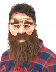 Máscara látex homem barbudo adulto