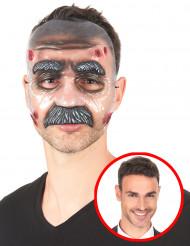 Máscara transparente homem com bigode adulto