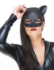 Meia máscara de látex mulher-gato adulto