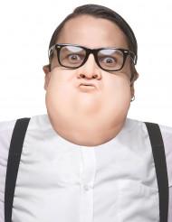 Meia máscara de aumento látex adulto
